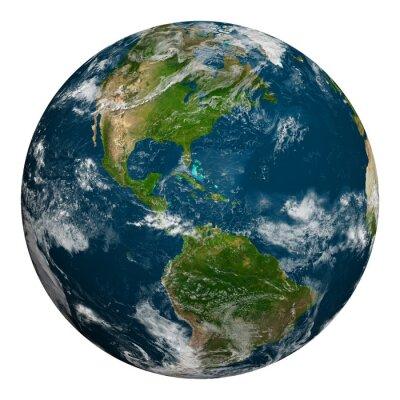 Poster Terra do planeta com nuvens.