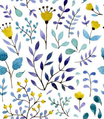 Poster teste padrão floral