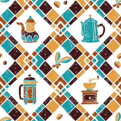 Poster Teste padrão sem emenda Argyle e Coffeemakers