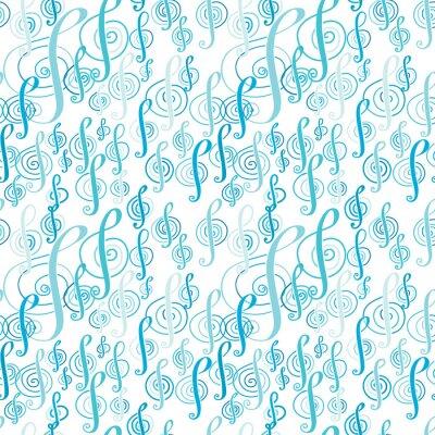 Poster Teste padrão sem emenda da música com um clef de triplo.