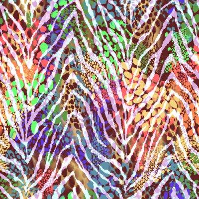 Poster Textura colorida da zebra nos pontos ~ fundo sem emenda
