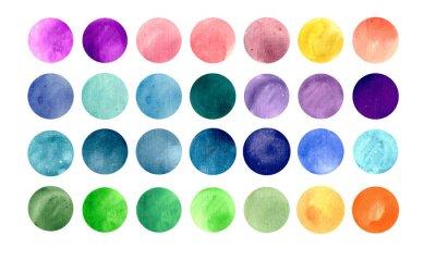 Poster Texturas círculo da aguarela. Mega pack útil para você arrastar