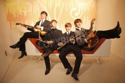 Poster The Beatles - wax figure at Madame Tussauds, July 10, 2008, Unter den Linden, Berlin-Mitte.