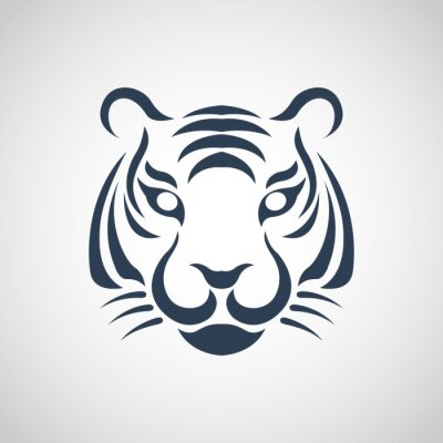 Poster tiger vector logo
