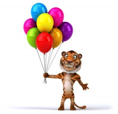 Poster tigre do divertimento