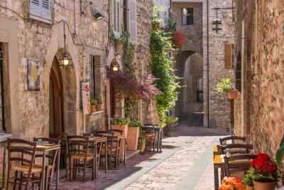 Poster Tipico ristorante italiano nel Vicolo storico