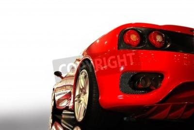 Poster tiro de um carro esportivo vermelho (ferrari)