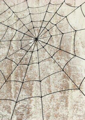 Poster Toile surd'araignée un mur. arte de rua