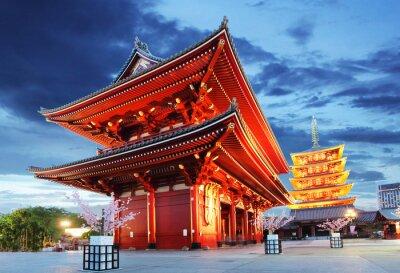Poster Tóquio - Sensoji-ji, Templo de Asakusa, Japão
