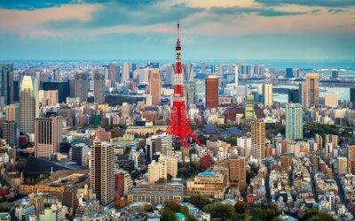 Poster Tóquio vista da cidade visível no horizonte
