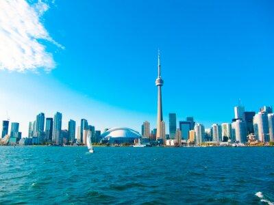 Poster Toronto skyline da cidade da balsa viaja para o centro da ilha