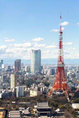 Poster Torre de Tóquio cityscape