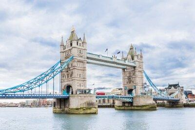 Poster Tower Bridge em Londres, Reino Unido