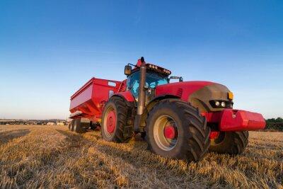 Poster Tractor e reboque Agricultura