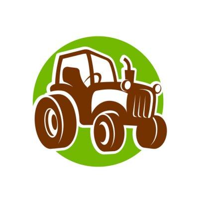 Poster traktor ícone fermer
