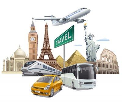 Poster Transporte e viagens