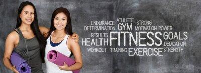 Poster Treino de fitness