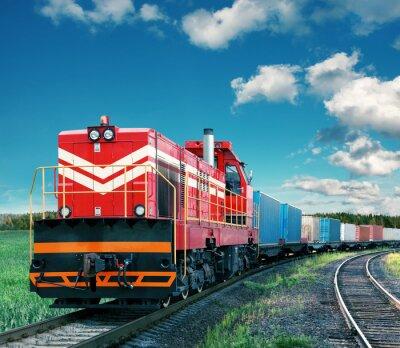 Poster trem de carga