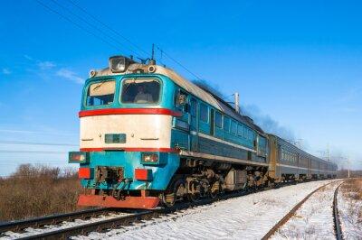 Poster Trem local Diesel na Ucrânia.