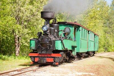 Poster Trem velho motor a vapor