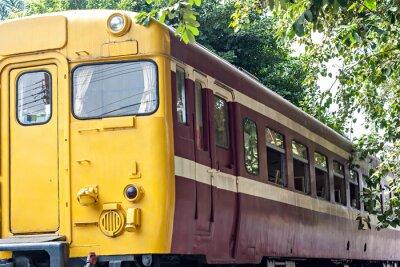 Poster Trem velho na estação