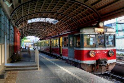 Poster trem vermelho
