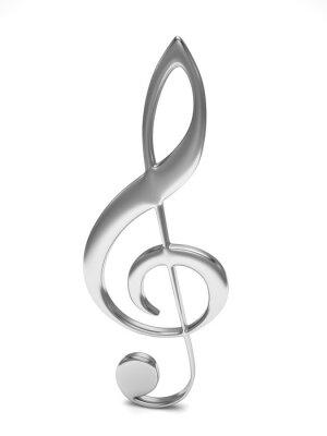 Poster Triplo, clef, 3D, branca