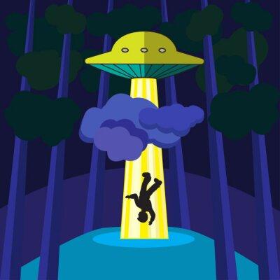 Poster UFO abduz uma pessoa