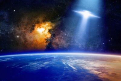 Poster Ufo Abordagens planeta Terra
