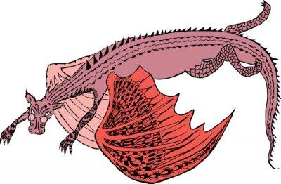 Poster Um dragão está voando