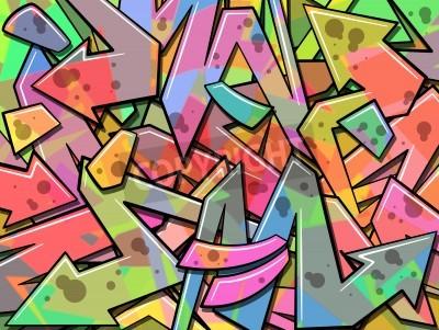 Poster Um Fundo Graffiti colorido