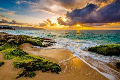 Poster Um por do sol havaiano bonito