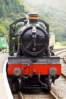 Poster Um trem a vapor chega à estação