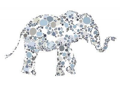 Poster Uma ilustração criativa de um elefante