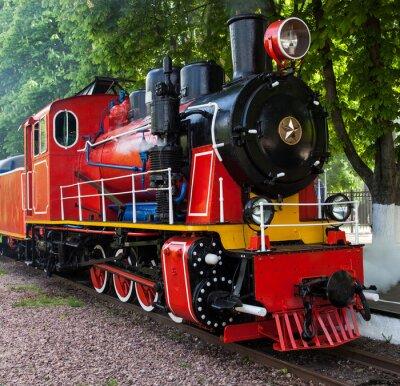 Poster Vapor, locomotiva, soprando, vapor