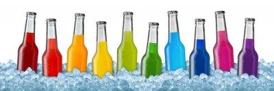 Poster Várias bebidas em gelo picado