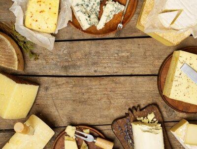 Poster Vários tipos de queijo