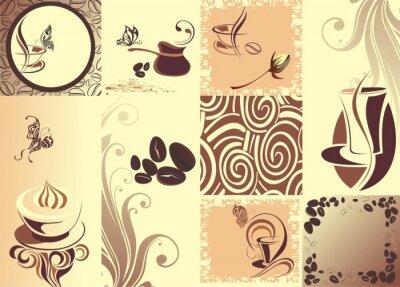 Poster Vector backgroundwith café borboleta