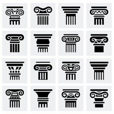 Poster Vector ícone da coluna conjunto