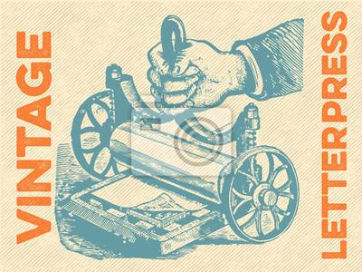 Poster Vector tipografia do vintage