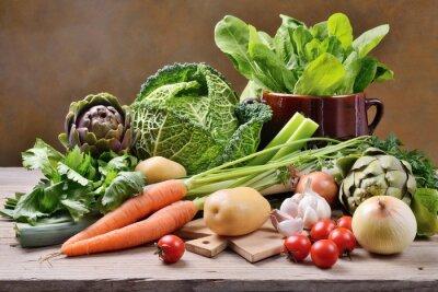 Poster Vegetais misturados