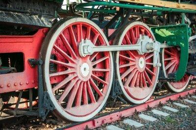 Poster velhas locomotivas a vapor do século 20