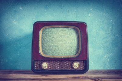 Poster Velho, vindima, tv, madeira, caso