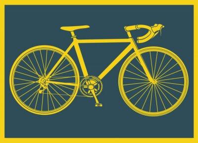Poster Vélo de curso pop