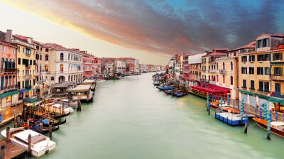 Poster Veneza - canal grande da ponte de Rialto
