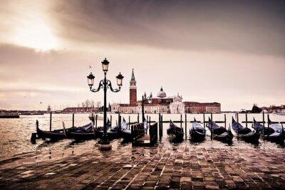 Poster Venise gondole romantique amor amoureux lagune