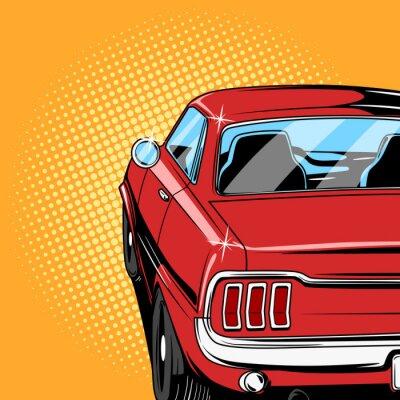 Poster Vermelho, car, quadrinhos, livro, estilo, vetorial