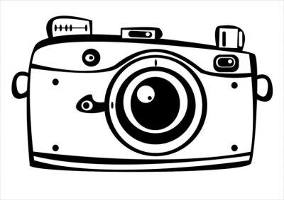 Vetor Camera Fotografica De Filme Do Vintage Isolado No Fundo