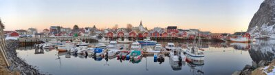 Poster vilas de pescadores na Noruega