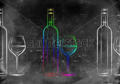 Poster Vinho arte ilustração